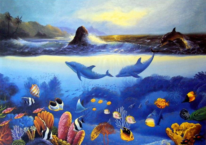 Obraz obyvatel moře