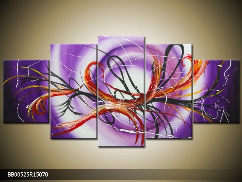 Ručně malovaný obraz fialová abstrakce