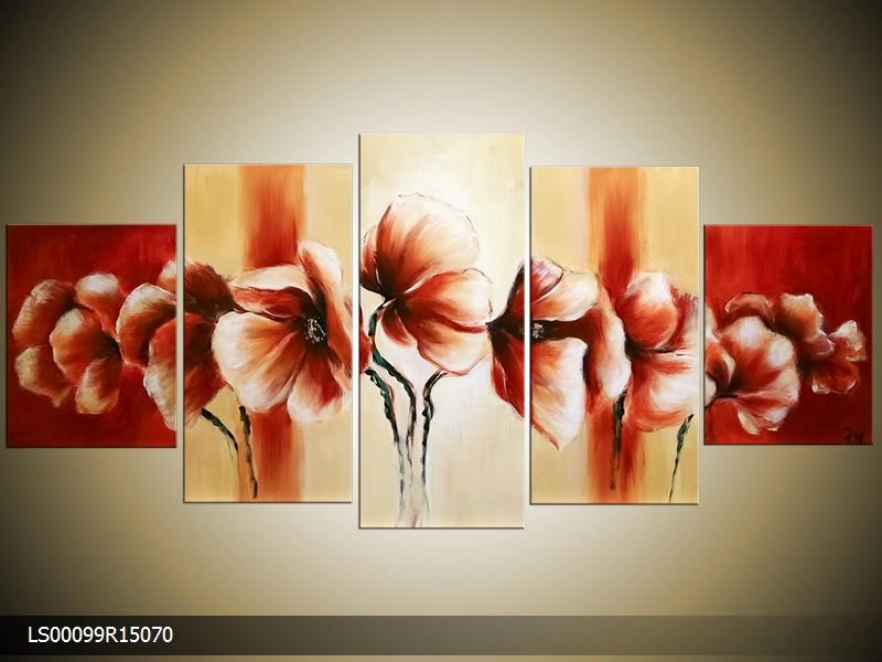 Ručně malovaný obraz máků