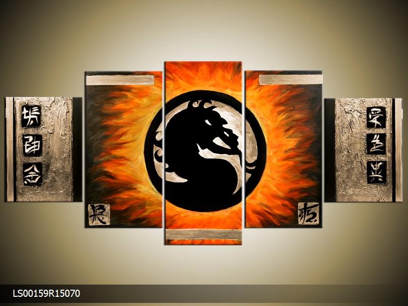 Ručně malovaný obraz draka