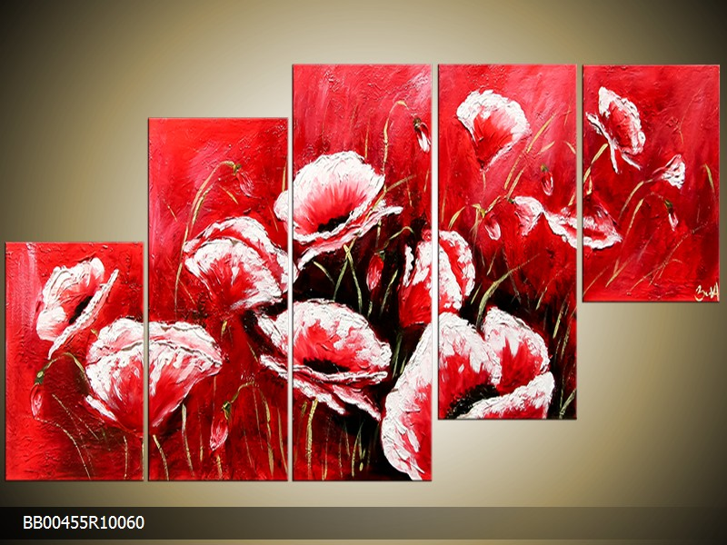 Ručně malovaný obraz máky