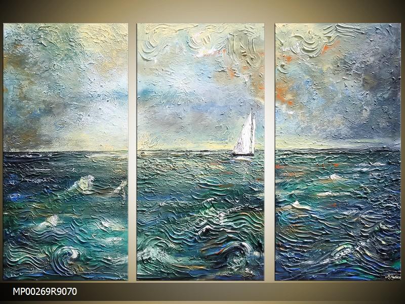 Ručně malovaný obraz moře