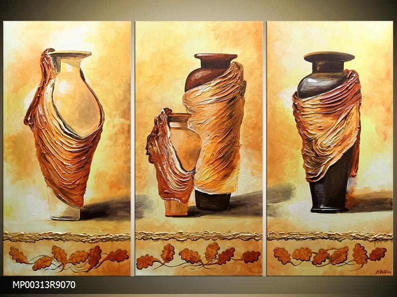 Ručně malovaný obraz vázy