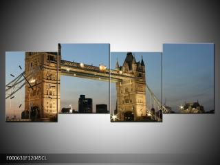 Obraz s hodinami Tower Bridge